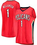 XLXay New Orleans Pelicans # 1 Zion Williamson 2019 NBA Draft First Round Pick Fast Break Swingman - Camiseta de baloncesto (S-XXL), color rojo XXL (185-190cm/95-110kg)
