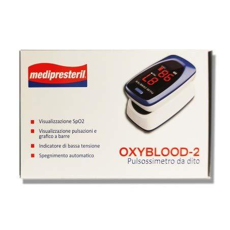 Corman Medipresteril Saturimetro Oxyblood-2 Pulsossimetro Da Dito 1 Pezzo