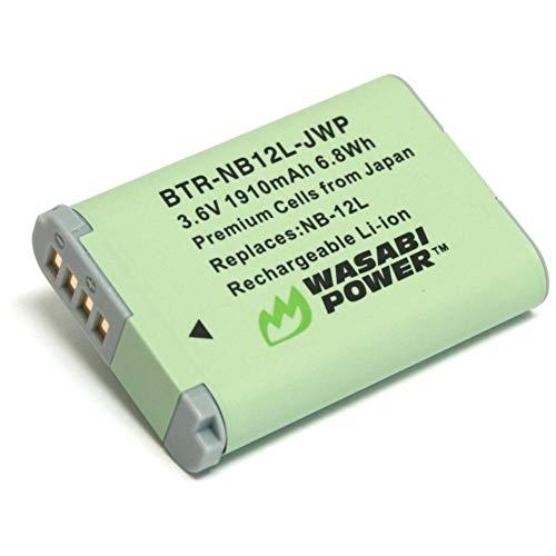 Wasabi Power Battery for Canon NB-12L and Canon PowerShot G1 X Mark II, N100, VIXIA Mini X