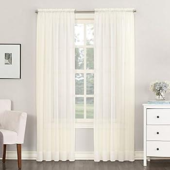 No. 918 Emily Sheer Voile Rod Pocket Curtain Pane
