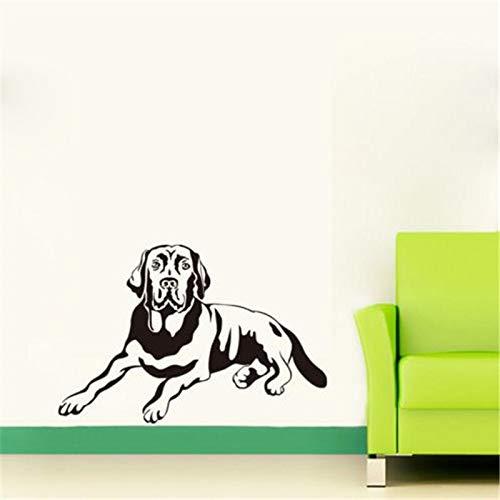 JXWR Schattenhund lustige Wandtattoo Kinderzimmer Vinyl Tapete abnehmbare Schlafzimmer Aufkleber Wohnzimmer Aufkleber Wohnkultur 40x60cm