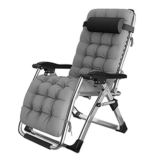 YXBDD Outdoor Liege | Relaxliege Liegestuhl | Gartenliege Sonnenliege | Gartenstuhl | Klappstuhl faltbar|ergonomische Relaxsessel | Klappbarer Schwerelosigkeitsstuhl In ÜBergrößE 260kg Belastung