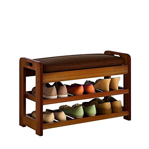 KEKEYANG Imitación de Cuero de Zapatos Mesa de Trabajo for los Zapatos Entryway del Organizador del almacenaje del Estante con Patas de Calzado Bastidores (Color, tamaño: 71X29X45CM) Zapatero