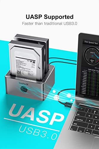 Inateck Aluminio USB 3.0 a SATA 2-Bay USB 3.0 Docking Station ...