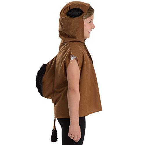 Charlie Crow Kamel Kostüm für Kinder - Einheitsgröße 3-8 Jahre.