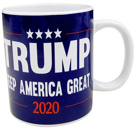 Donald Trump 2020 Keep America Kaffeetasse, 325 ml, Blau
