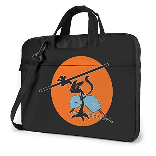 Kung Fu Cat Cute Laptop Case Laptop Shoulder Messenger Bag Sleeve for 15.6 Inch