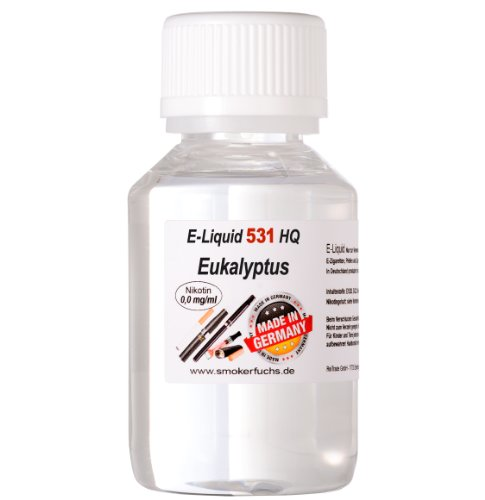 100ml E-Liquid No. 531 HQ - EUKALYPTUS - MADE in GERMANY - 0,0 mg Nikotin von Smokerfuchs®