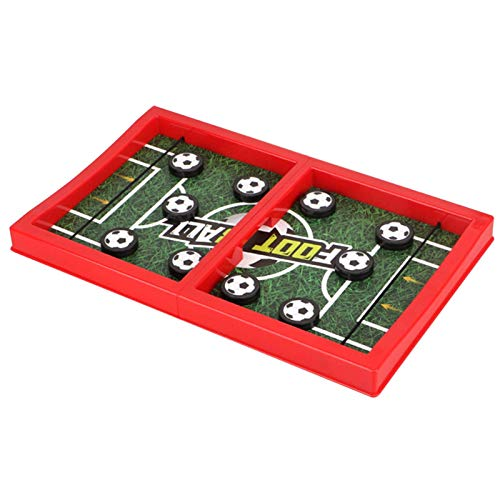 LIUCHANG 2020 Neue Fast Fast Sling Puck Spiel, Tischschlacht 2 in 1 Eishockey Spiel for Kinder Erwachsene Desktop Sports Board Spielzeug for Party oder Reisen liuchang20 (Size : Football)