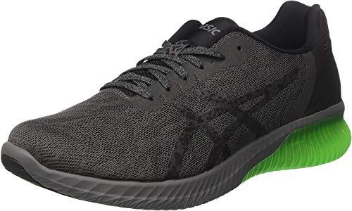 Asics Gel-kenun, Zapatillas de Entrenamiento para Hombre, Multicolor (Dark Grey/Black/Green Gecko), 40.5 EU