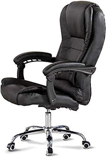 Drehbarer Arbeitsstuhl Extra gepolsterter Bürostuhl Bequemer Liegestuhl Kunstleder Drehbarer Computertischstuhl