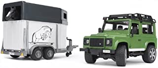 bruder Vehicle Land Rover, Defender Station Wagon and Horse