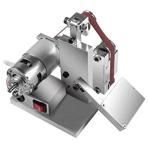 4500-9000RPM 7-fach verstellbarer DIY Poliermaschine Mini Bandschleifer Kantenschleifer Schleifen/Polieren/Schleifmaschine für DIY Arbeit - 10 * Belt + 4 * Wrench