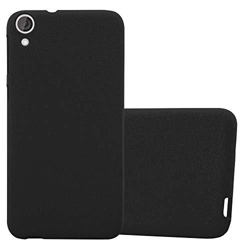 Cadorabo Funda para HTC Desire 820 en Frost Negro - Cubierta Proteccíon de Silicona TPU Delgada e Flexible con Antichoque - Gel Case Cover Carcasa Ligera