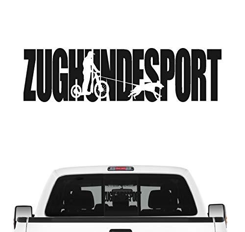 Siviwonder Zughundesport Hundesport Auto Aufkleber Hund Folie Aufkleber Dogscooter Jöring Farbe Schwarz Matt, Größe 45cm