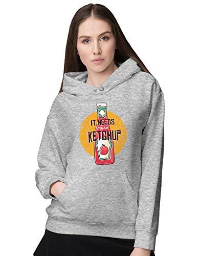 BLAK TEE Damen More Tomatoes and More Ketchup Kapuzenpullover M