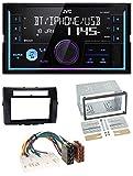 caraudio24 JVC KW-X830BT AUX 2DIN USB MP3 Bluetooth Autoradio für Toyota Corolla 04-09 Verso schwarz