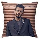 Yaxinduobao Pillow Case with Orlando Bloom Picture Fashion Square Pillowcase Decorative Pillow Cover Cushion Case Home Decor,Square 18 X 18 Inches