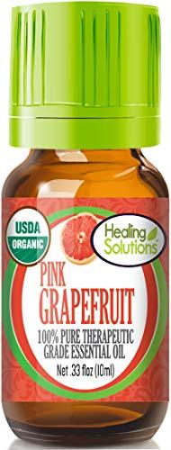 Organic Pink Grapefruit Essential Oil (100% Pure - USDA Certified Organic) Best Therapeutic Grade Essential Oil - 10ml