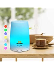 infinitoo Essential Oil Diffuser, infinitoo 300ml Aroma Diffuser | Aromatherapy | Humidifier with Cool Mist | Long Lasting with 4 Timer Settings & 7 Color LED Lights for Bedroom, SPA, Office
