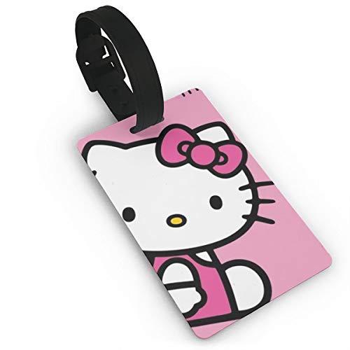 WSXEDC Etiquetas para Equipaje Texto en inglés Hello Kitty
