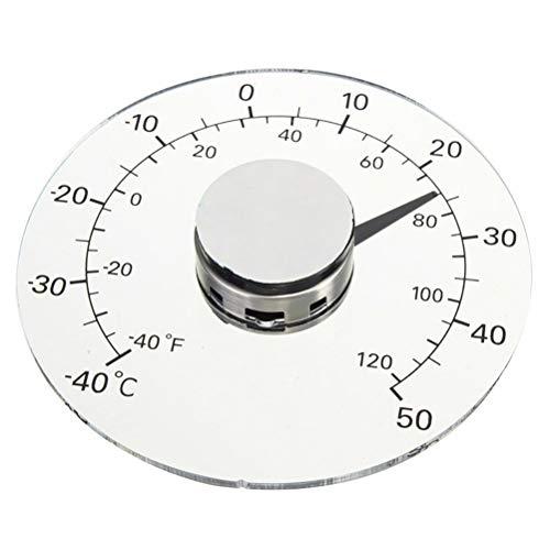 LIOOBO Fenster-Thermometer-Temperatur haftet innen/im Freien wasserdichtes Zifferblatt rund 4,3 Zoll Durchmesser