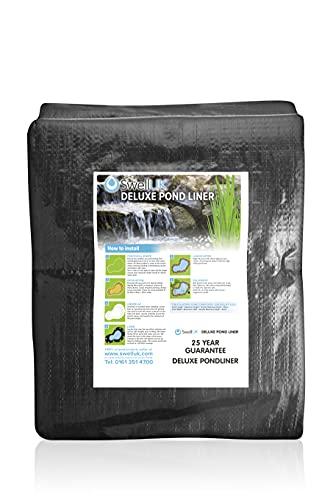 Swell UK Pond Liner met 25 jaar garantie 2.5 x 2.5m Zwart