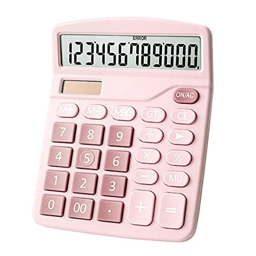 Desktop Calculator 12-Digit Large LCD Display Standard Function Solar + Battery Dual Power Supply Calculator Home Office Business