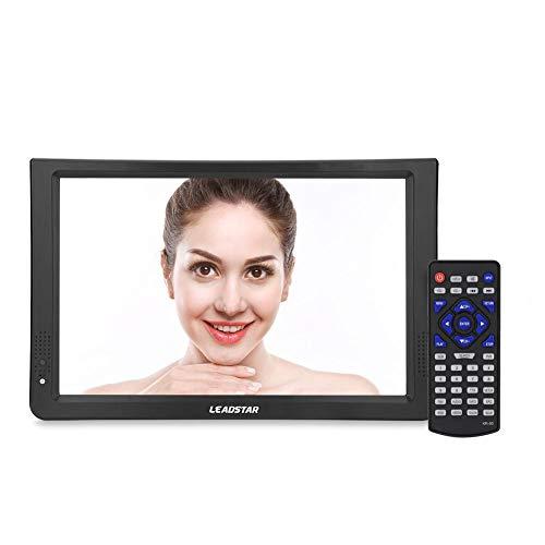 Televisores analógicos Digitales de 11.6 Pulgadas, TV portátil 1280x800 T-T2 Soporte de batería Recargable incorporada Tarjeta TF USB y Audio para el hogar, automóvil, avión(YO)