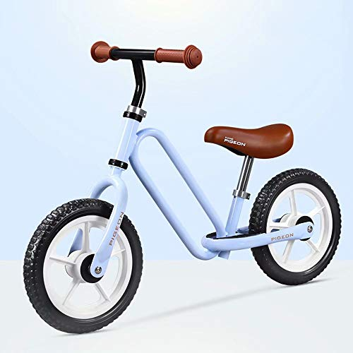 Balance Fahrrad Kind,Pedalloses Fahrrad,Hochkohlenstoffstahl,Nicht luftbereifter Reifen,Einstellbarer Sitz,Laufendes Fahrrad,12 Zoll