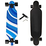NEWQIANG Longboard Skateboard Complete Cruiser, 31 inch Small Pro Longboards with T-Tool for Cruising, Carving, Freestyle and Downhill