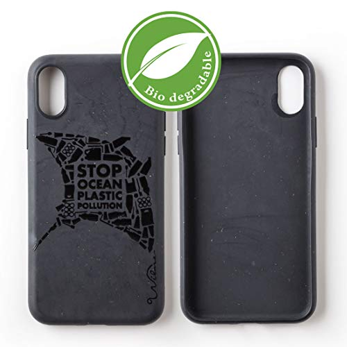 Wilma Umweltfreundliches, biologisch abbaubare Handy Schutzhülle Kompatibel mit iPhone X/XS, Stop Meeres Plastik Verschmutzung, Kunststoff-frei, abfallfrei, ungiftig, Vollschutz Hülle - Matt Manta