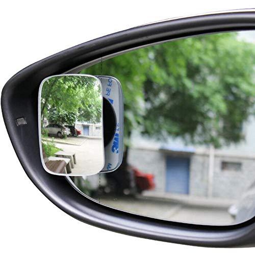 Glas-grenzenloser Auto-Rückspiegel Kleiner runder Spiegel, der den blinden Fleck umkehrt 360 Grad Verstellbarer Weitwinkelspiegel