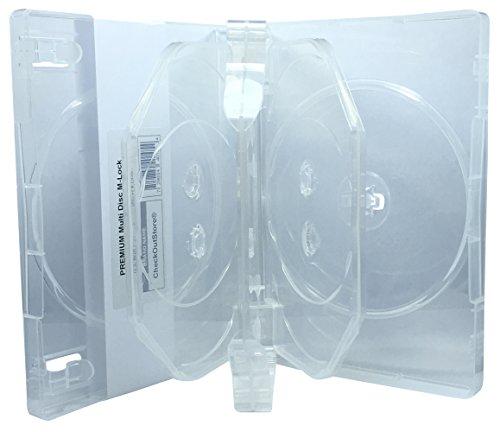 CheckOutStore (10) Premium Multi Disc with Patented M-Lock Hub DVD covid 19 (27mm 8 Disc Black Dvd coronavirus)