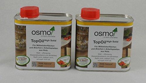 Osmo Spar-Set 2x TopOil natural 500ml, optimale Oberflächenbehandlung