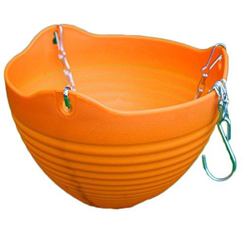 Pot en plastique par Outflower, pot à suspendre ou à poser, décoration de la maison, Plastique, Orange, 13*20CM