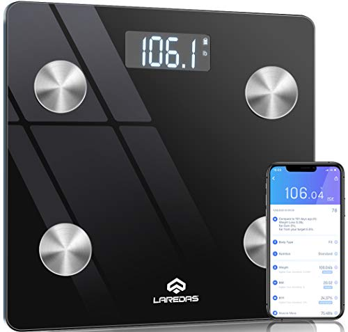【2021 Upgrade】Body Fat Scale Smart BMI Scale-23 Body Composition Analyzer Health Monitor Digital Body Weight Scale Bluetooth Wireless Bathroom Scale with Smartphone App, 396lbs 10Years Warranty