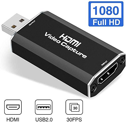 YTC HDMI Video Capture, Audio Video Capture Cards HDMI to USB, HD 1080P Video Recorder USB 2.0 Game Audio Grabber Streaming Live Stream Broadcast for DSLR, Camcorder, Action Cam