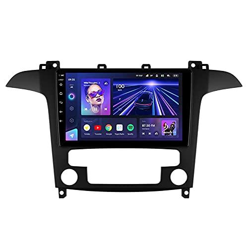 FDGBCF Android 10.0 per Ford S-Max S Max 1 2006-2015 Autoradio Lettore Video multimediale Supporto Navigazione GPS SWC 4G DSP Carplay WiFi Bluetooth Vivavoce Telecamera Posteriore