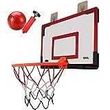 LXLA Canasta Baloncesto por La Puerta Mini Juego de Aro de Baloncesto con Pelota y Bomba, Tablero de Baloncesto Colgante para Niños y Adultos, Todos Los Accesorios de Instalación Incluidos