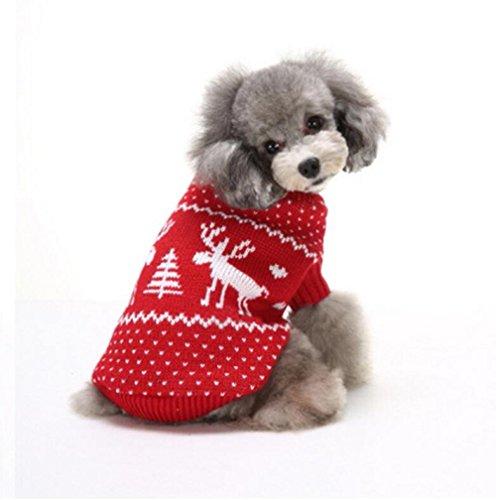Moonpet Kleine Medium Hond Puppy Kitten Katten Kerst Truien - Kerstmis Thema Leuke Rendier, M:Back 9.6