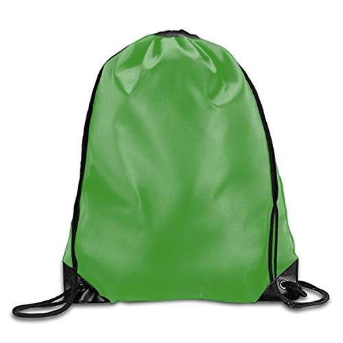 uykjuykj Tunnelzug Rucksäcke, Green Oxford Fabric Shoulders Buggy Bag green5 Lightweight Unique 17x14 IN