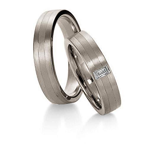 CORE by Schumann Design Trauringe/Eheringe aus 950/Platin mit echten Diamanten GRATIS Gravur 19022833