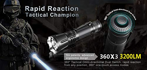 Klarus 360X3 LED Taschenlampe 3200 Lumen