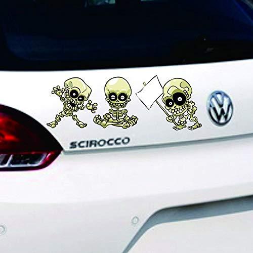 Pegatina de metal 3D para coche Kung Fu Skull coche coche pegatinas divertidas pegatinas de coche chino kung fu cráneo