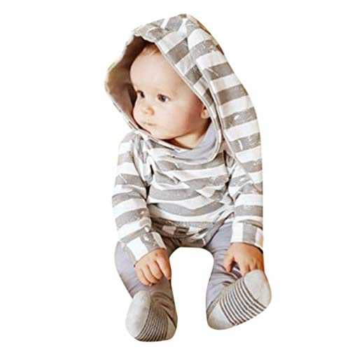 Longra baby jongens meisjes T-shirt, lange mouwen, hoodie, chique konijnen, bedrukt, tanktops, gestreept, crop top hoofdband, modieuze broek, kleding