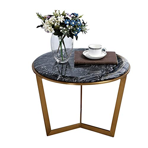 Bureau DD bijzettafel, zwart-wit kleine ronde tafel, roestvrij staal metalen koffietafel, woonkamer balkon snacktafel -werkbank