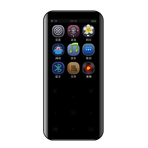 Reproductor MP3 portátil - Reproductor de música de 8GB Reproductor de Audio Digital con Pantalla táctil de 2.4', Radio FM, Grabación, Soporta hasta 128GB con Bluetooth 4.0