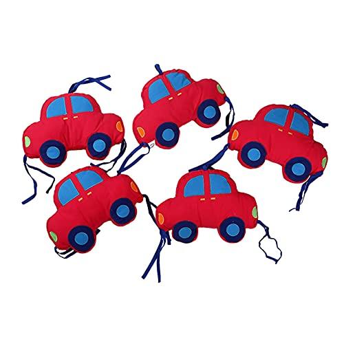 househome - Protector de cuna para bebé, 6 piezas, protección antigolpes con forma de coche