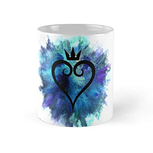 Lsjuee Kingdom Hearts - Taza de café de 11 oz, tazas de té de cerámica